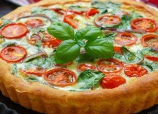 Torta salata al tonno pomodorini e olive ricetta