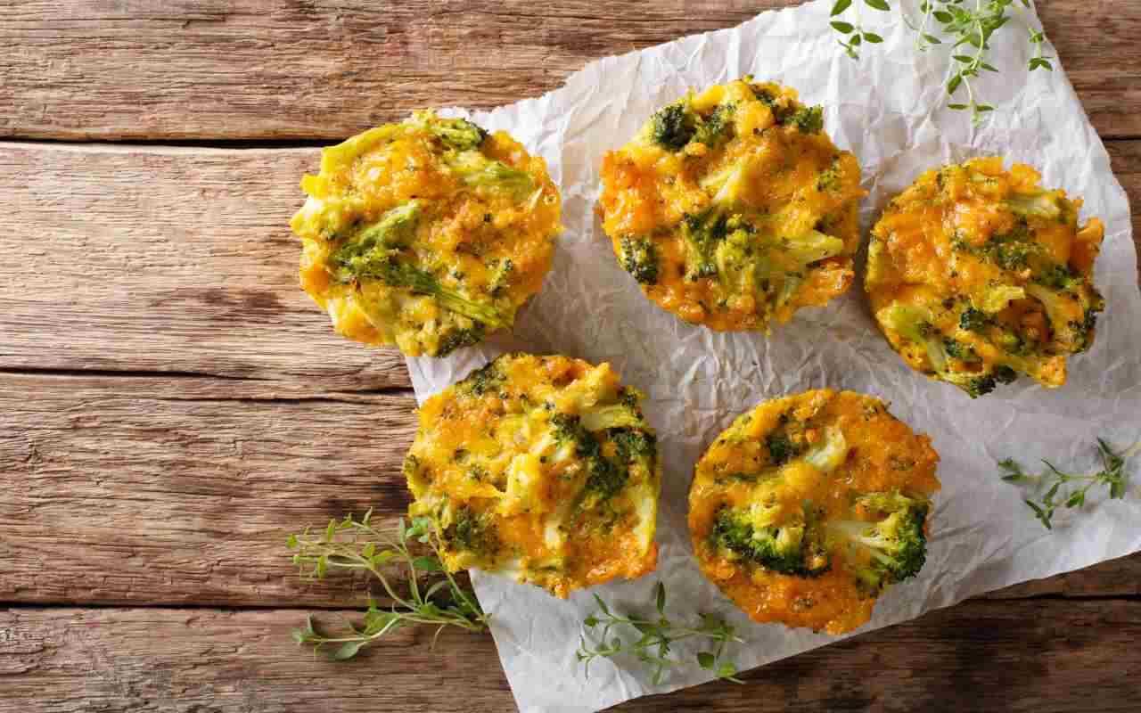 tortini broccoli ricetta FOTO ricettasprint