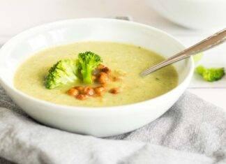zuppa ceci broccoletti ricetta FOTO ricettasprint
