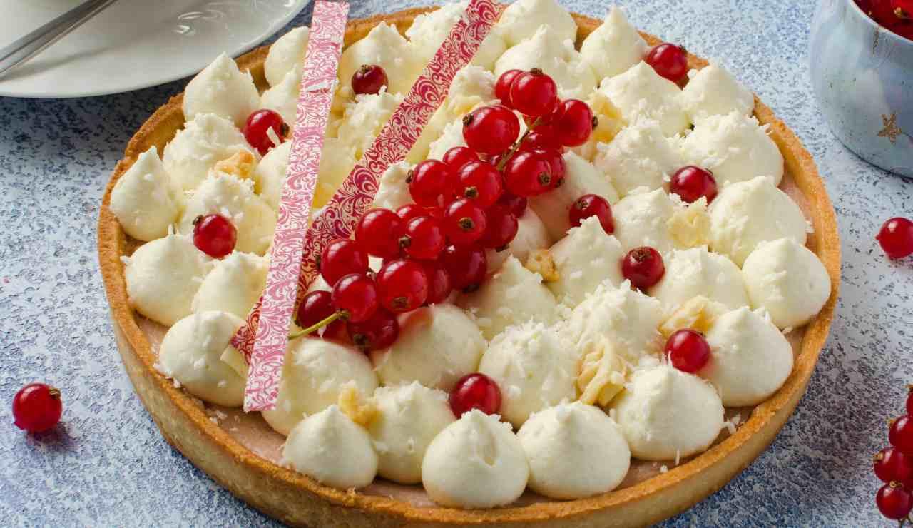 crostata moderna al cioccolato bianco e cocco ricettasprint