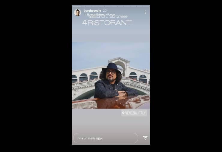 Alessandro Borghese sognando il set - RicettaSprint