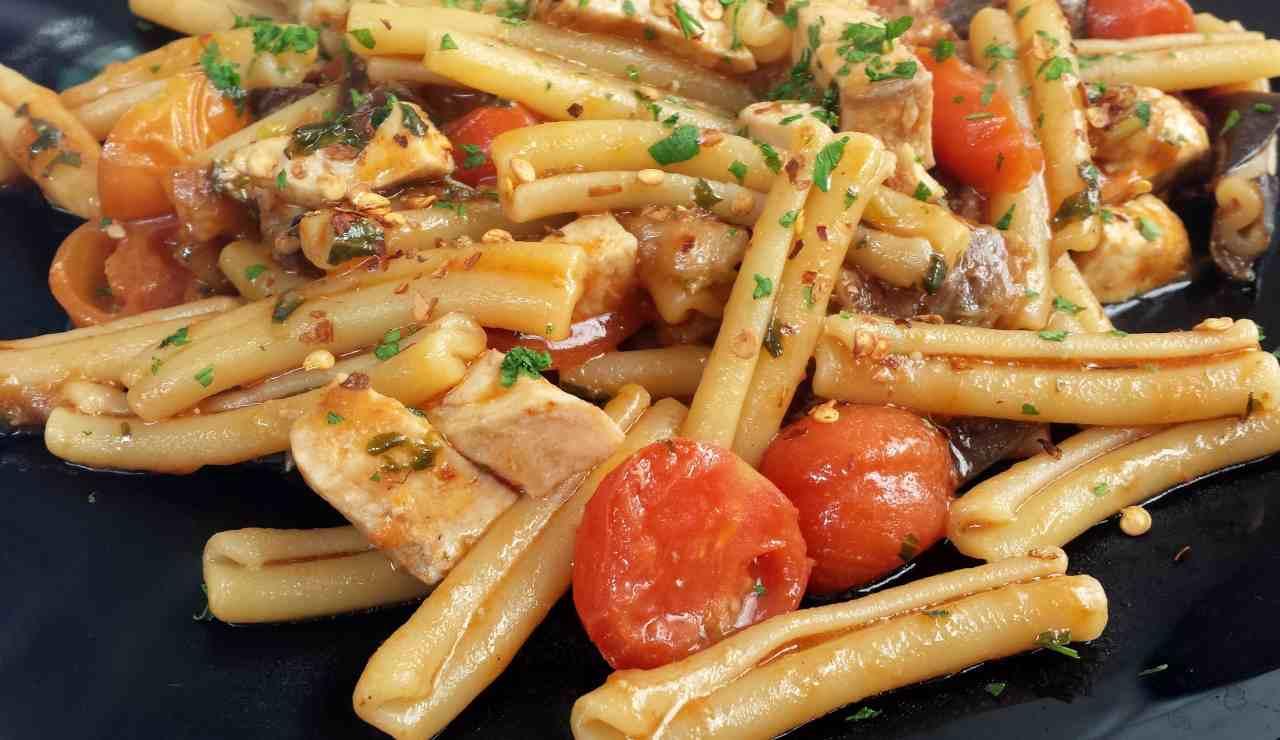 Casarecce ai pomodorini e pesce spada ricettasprint