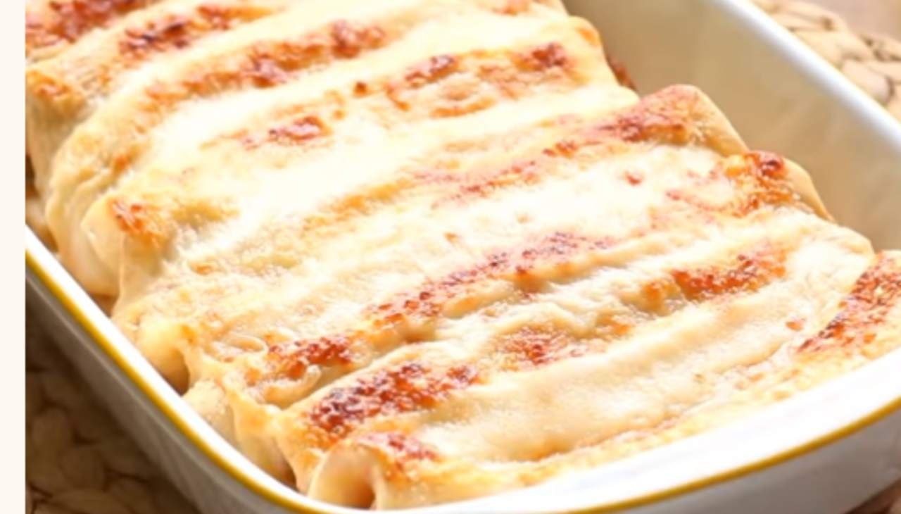 Crespelle al forno con prosciutto e formaggio ricetta