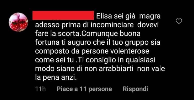 Elisa Isoardi passo falso Isola - RicettaSprint