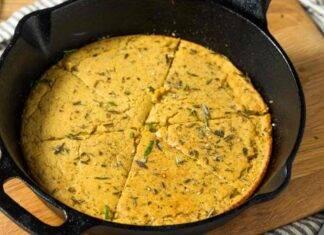 Frittata vegana di ceci e zucchine alla salvia ricetta
