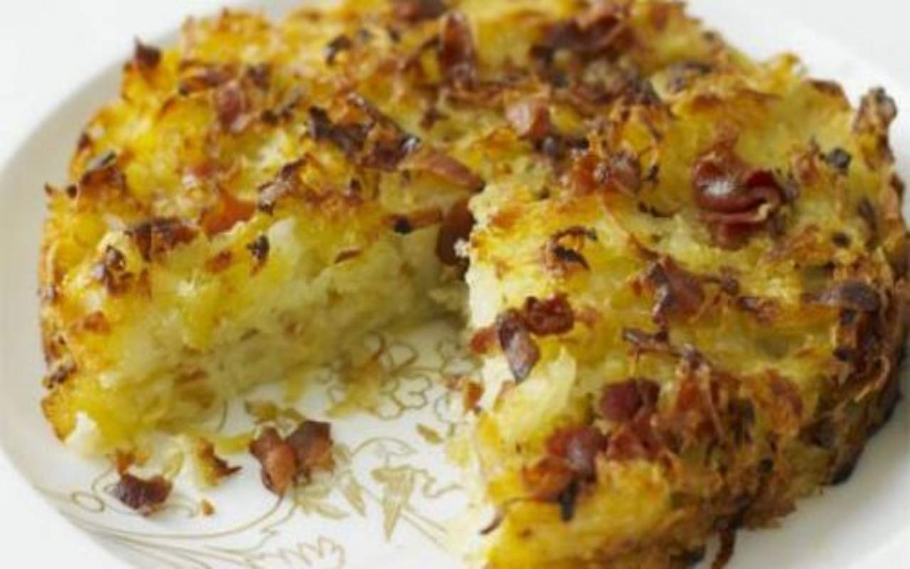 gateau cipolla patate ricetta FOTO ricettasprint