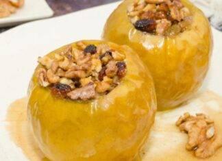 Mele al forno con ricotta miele e noci ricetta