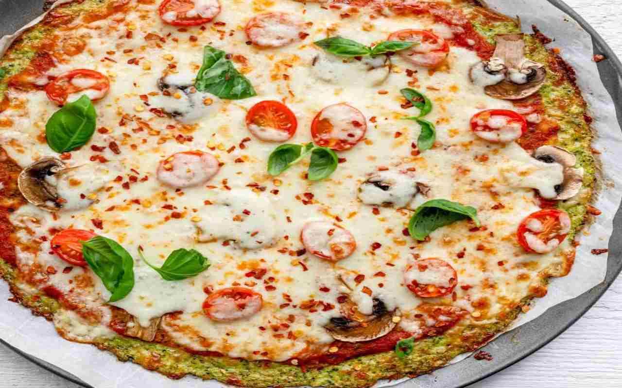 pizza broccoli no lievito ricetta FOTO ricettasprint