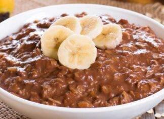 Porridge cioccolato e avena ricetta