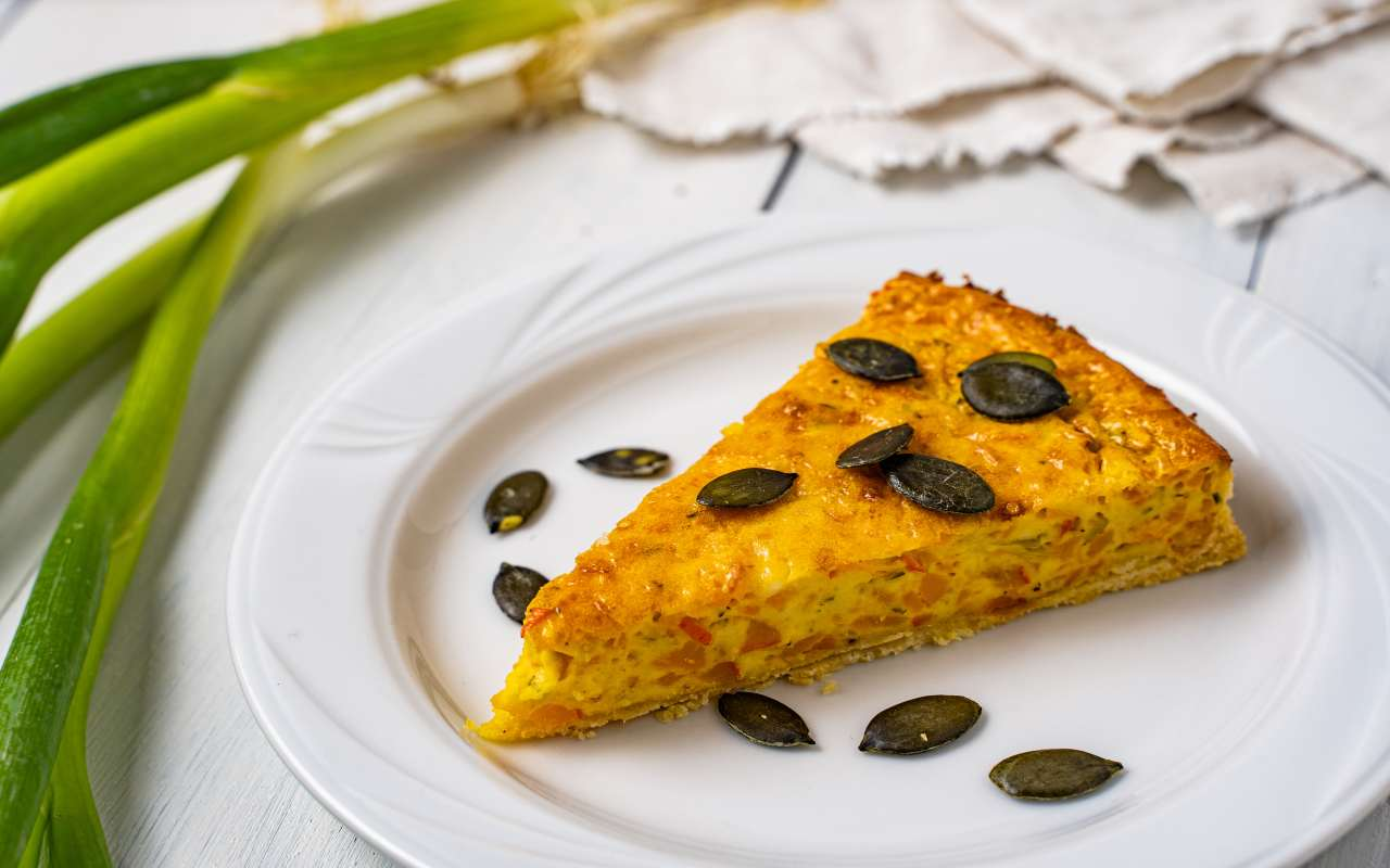 quiche zucca pesce ricetta FOTO ricettasprint