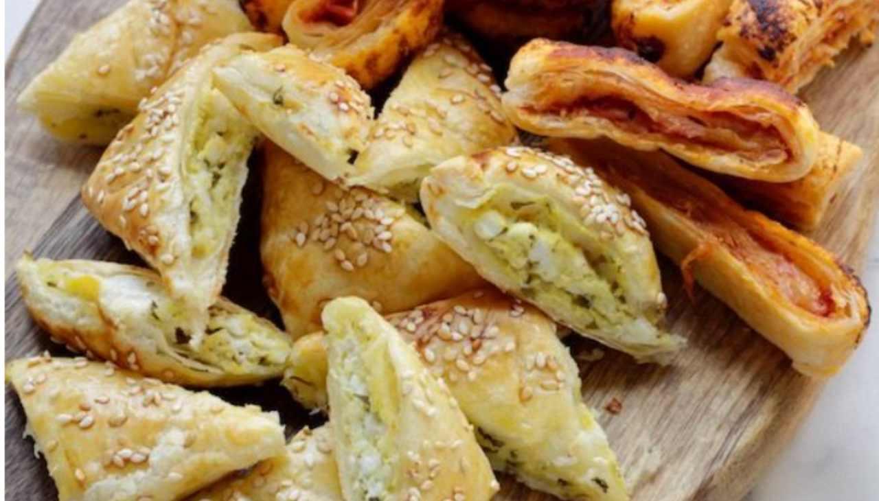 Salatini veloci di pasta sfoglia ricetta