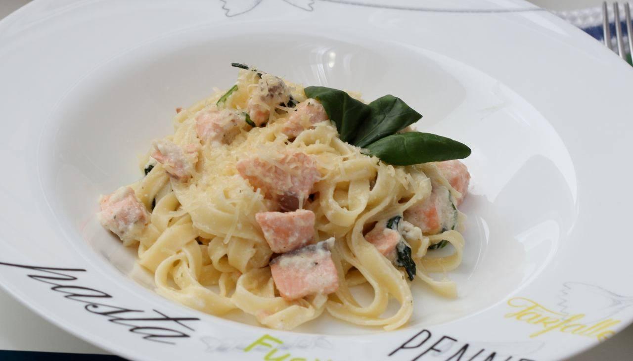 Pasta al pesce e verdure