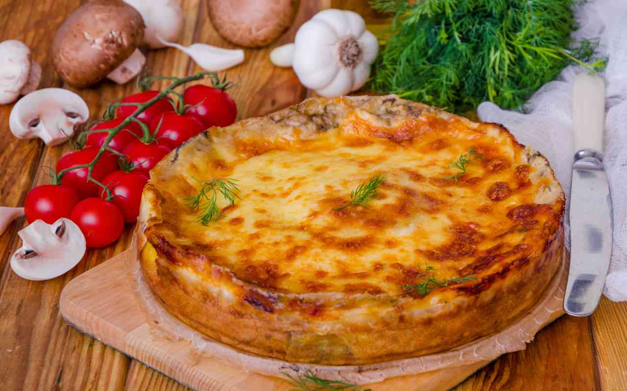 torta crepes pomodoro mozzarella ricetta FOTO ricettasprint
