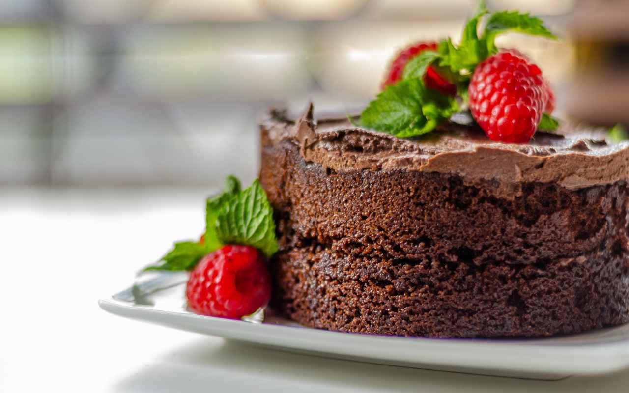 torta lamponi cioccolato zenzero ricetta FOTO ricettasprint