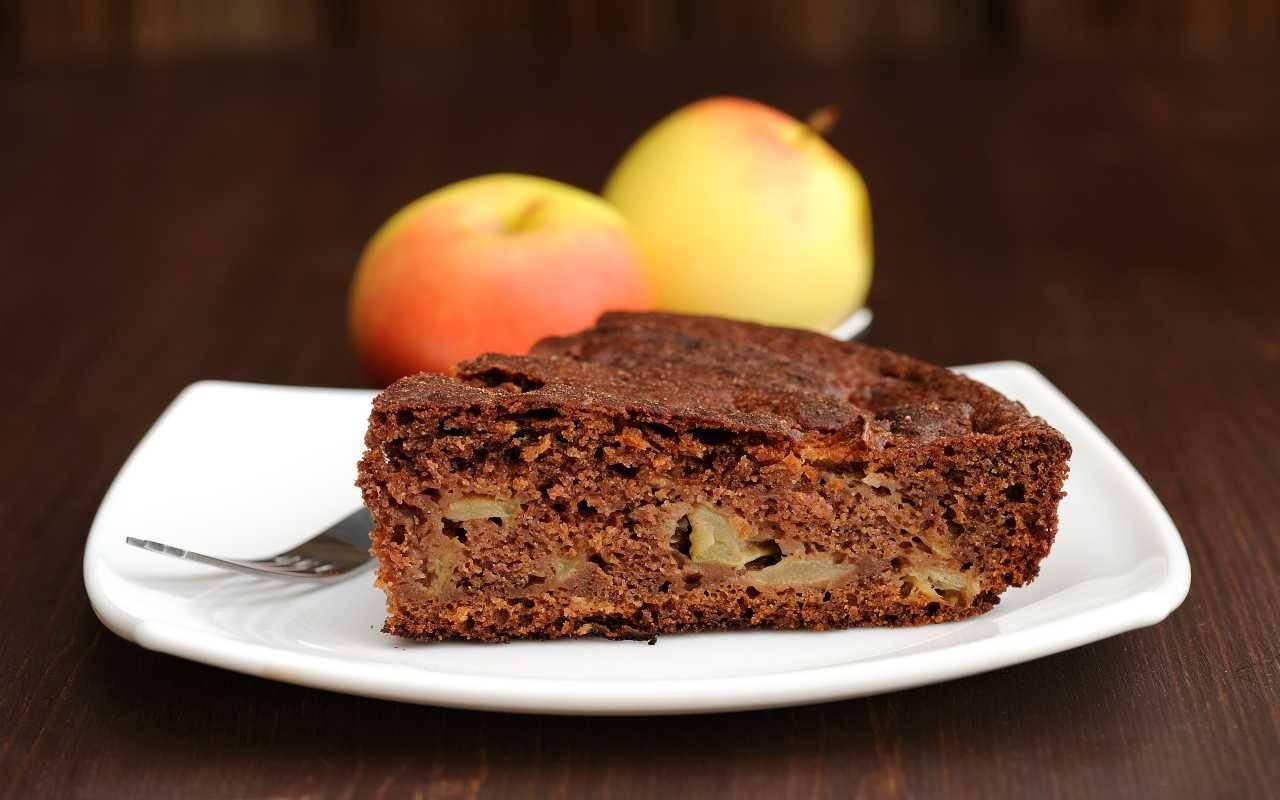 torta vegana mele cioccolato ricetta FOTO ricettasprint