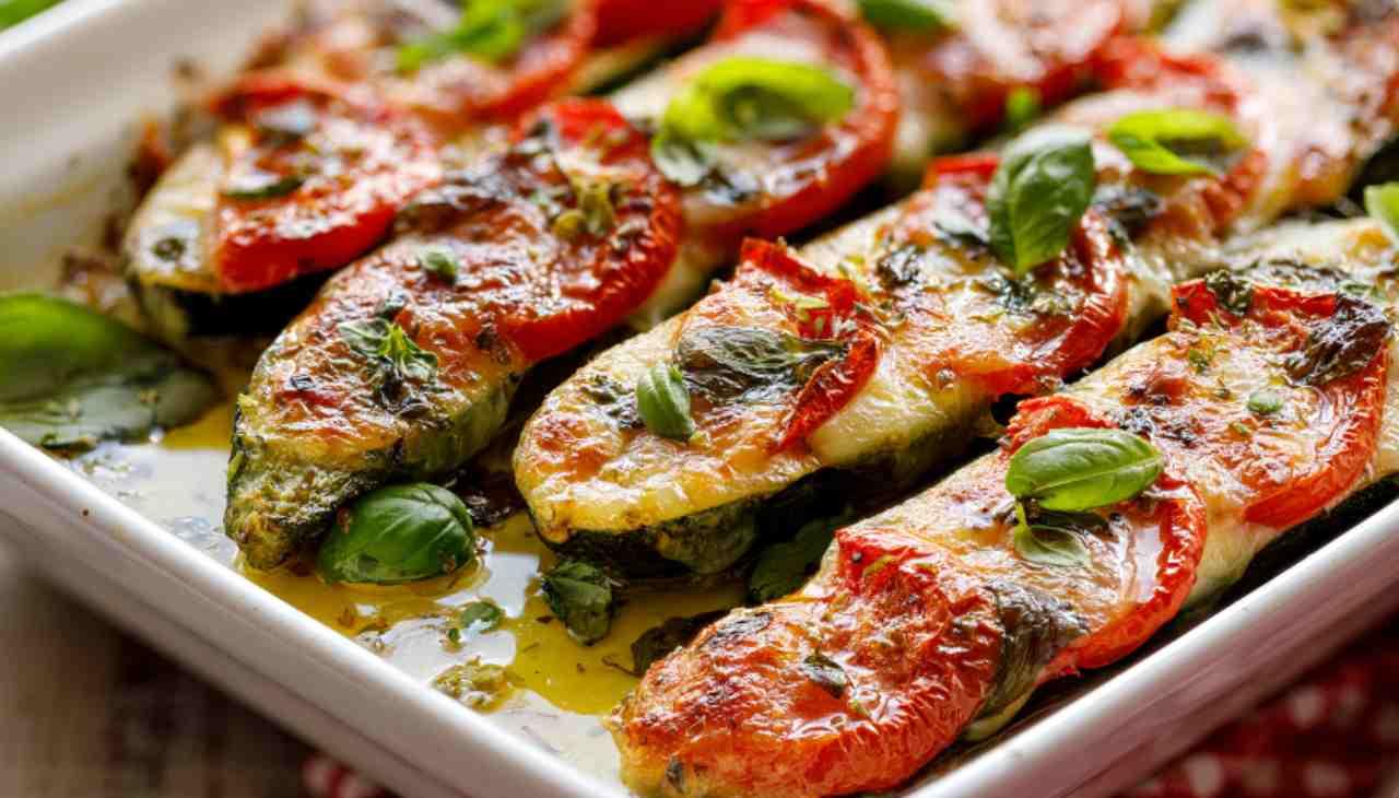 Verdura al formaggio e pomodoro