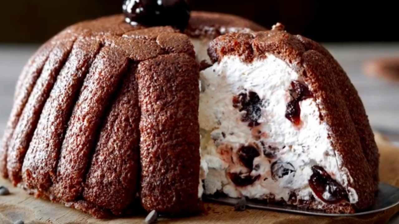 zuccotto cioccolato ricetta FOTO ricettasprint
