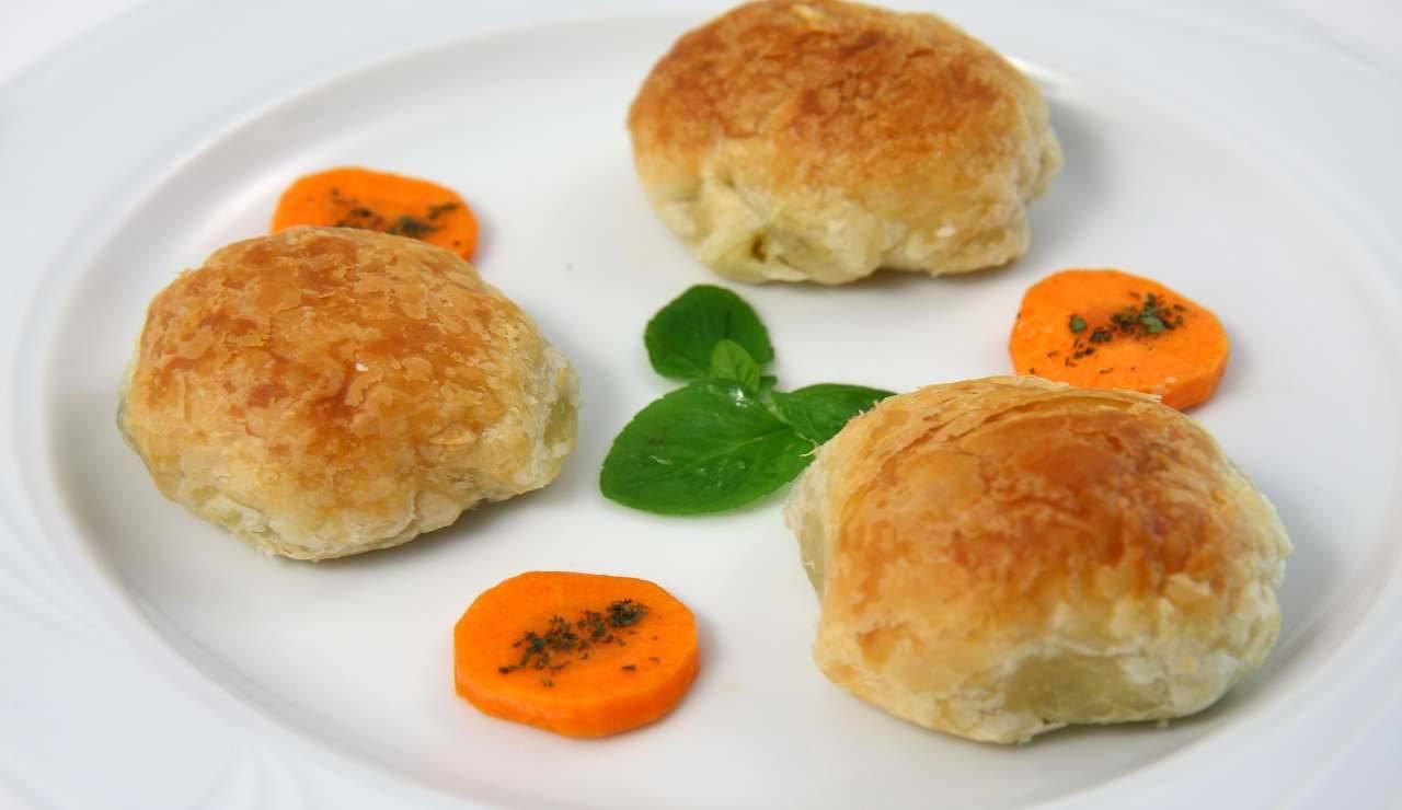 polpette in crosta con verdure e tofu