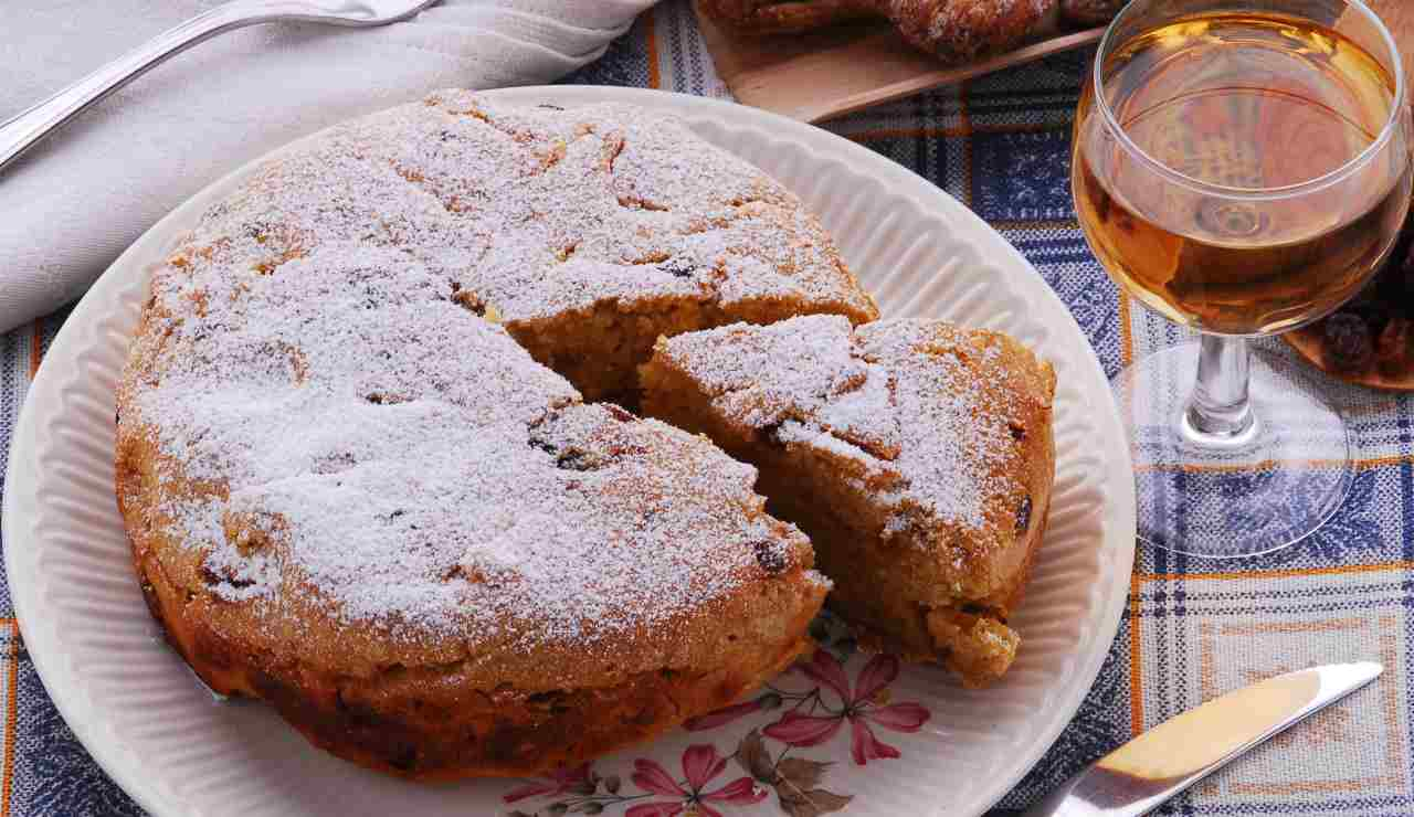 torta di semolino con uvetta e rum ricettasprint