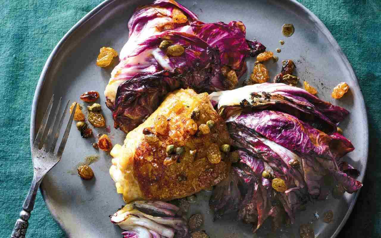 bocconcini pollo radicchio pancetta ricetta FOTO ricettasprint