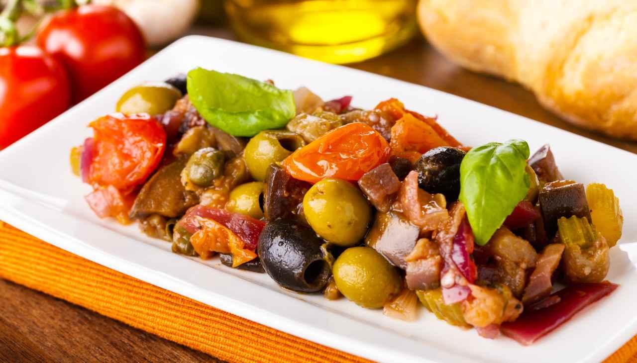 Caponata siciliana piccante ricetta