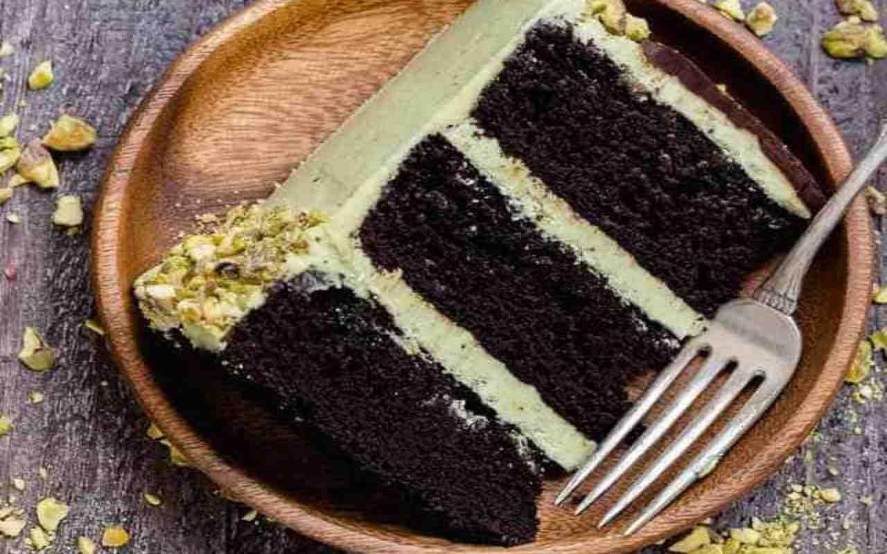 chiffon cake cacao pistacchio ricetta FOTO ricettasprint