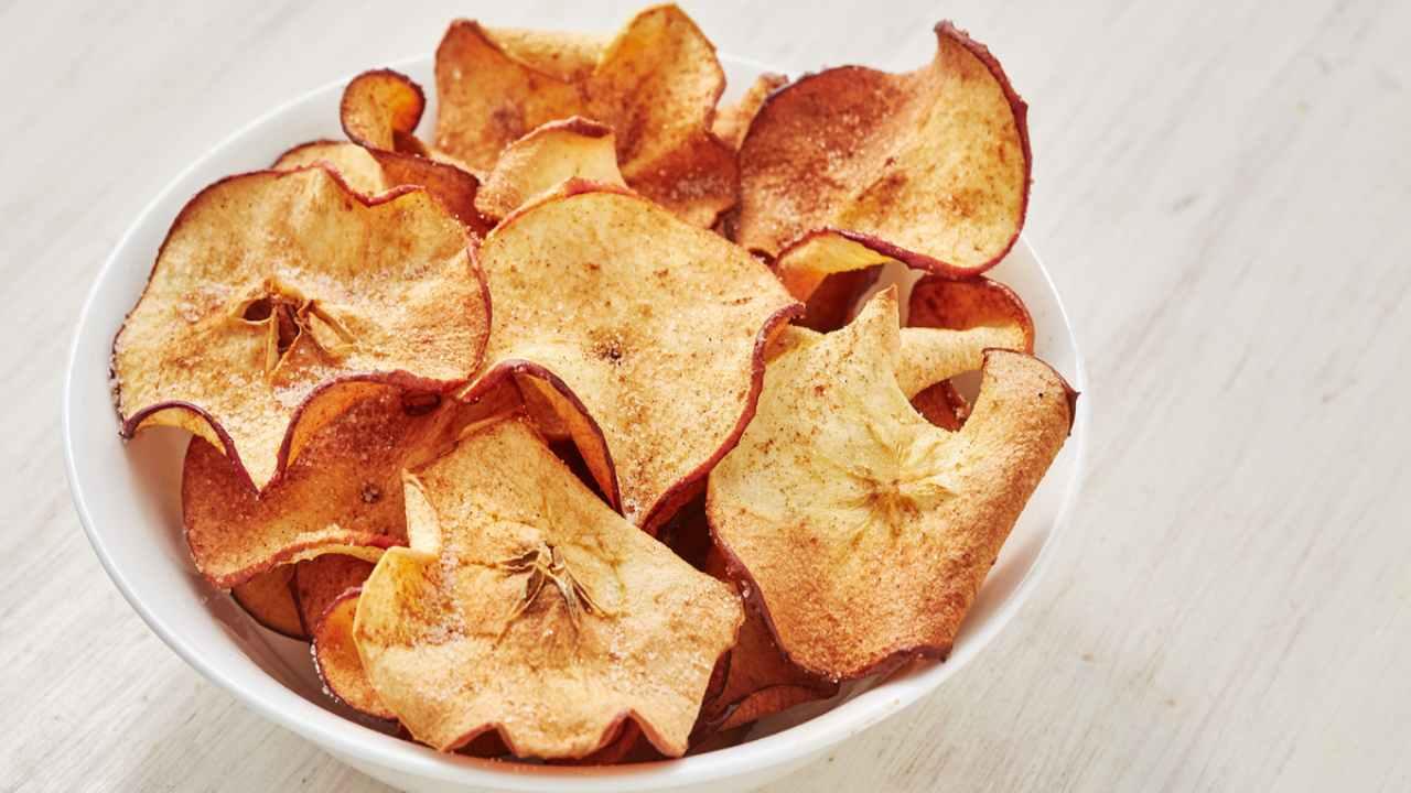 chips mele ricetta FOTO ricettasprint