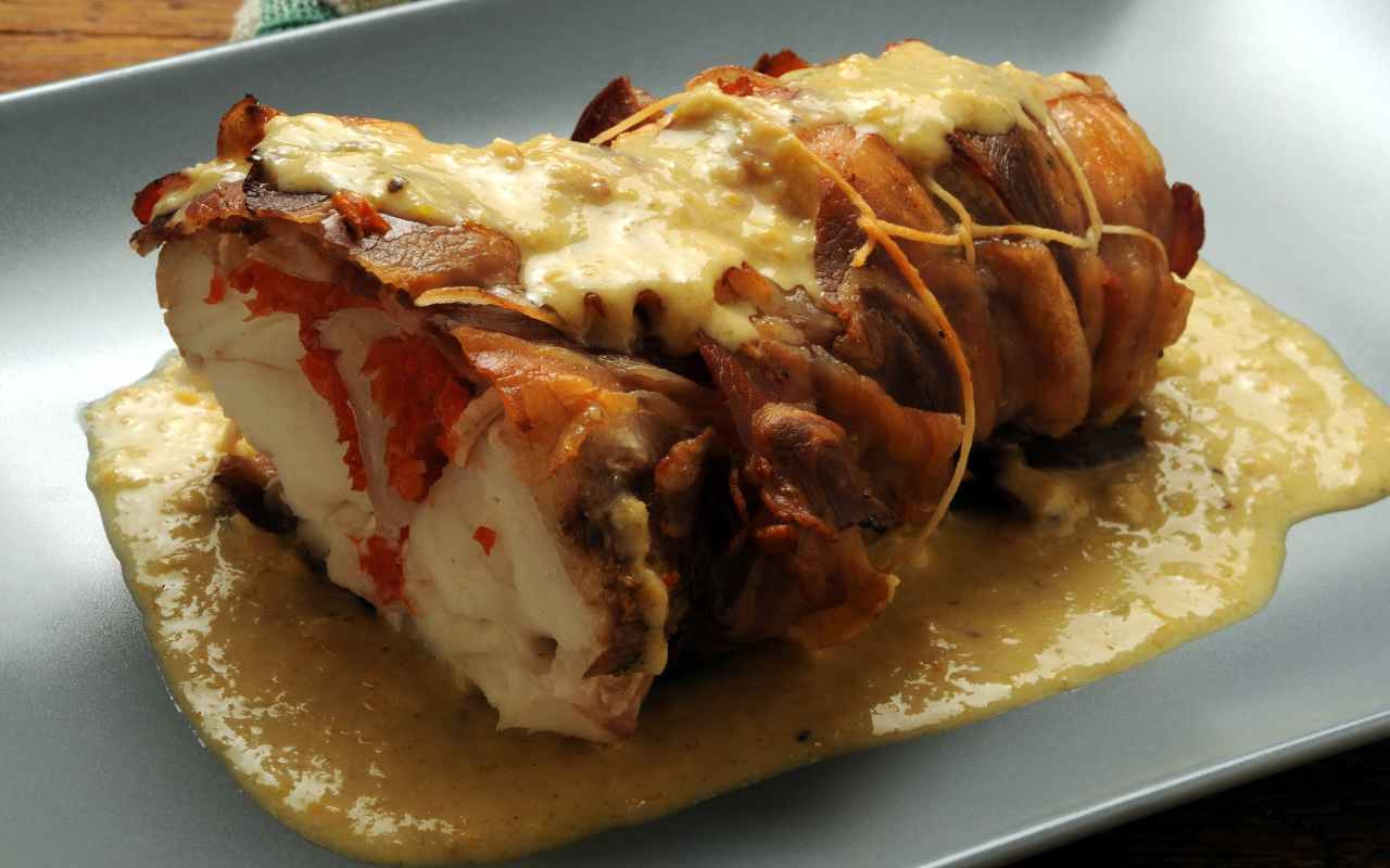 coda di rospo pancetta ricetta FOTO ricettasprint