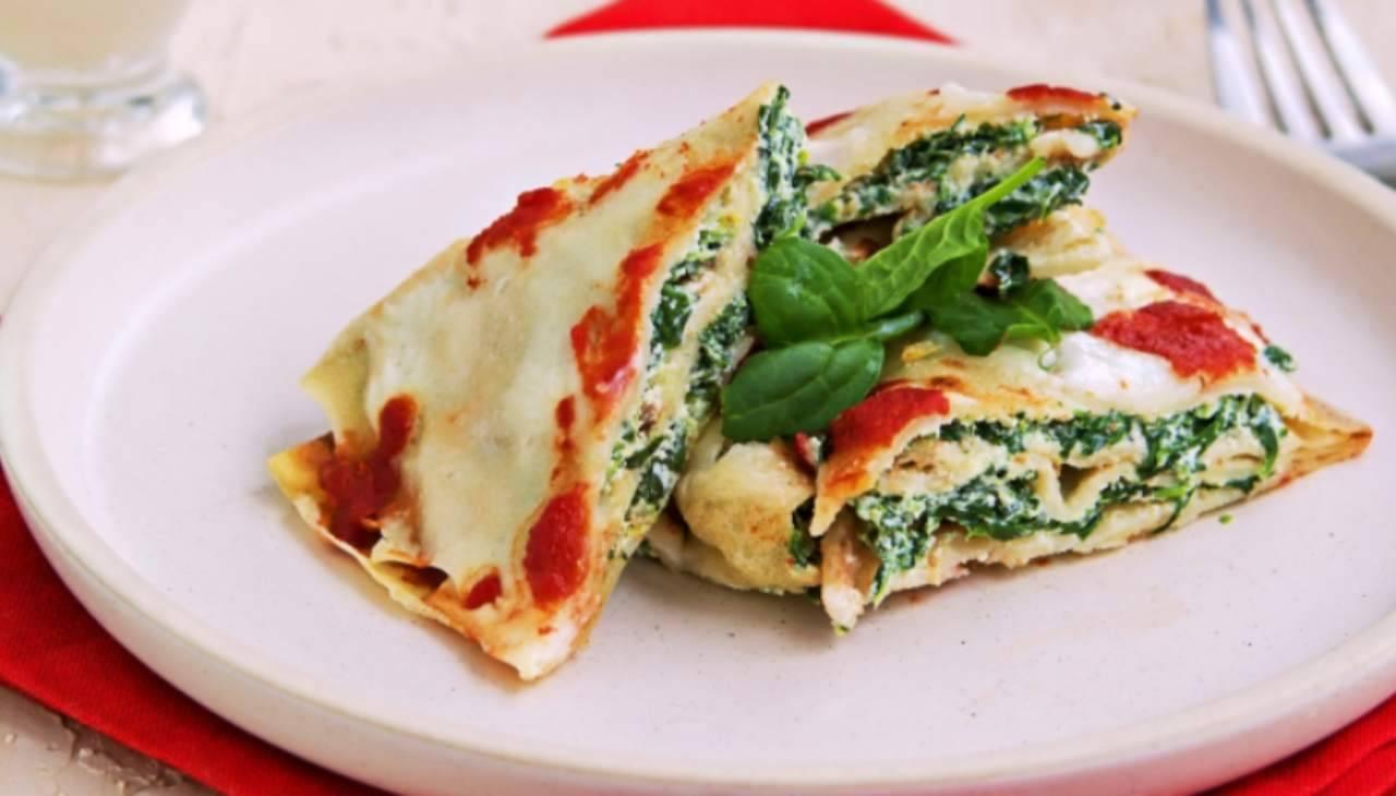 Crepes formaggio e verdura