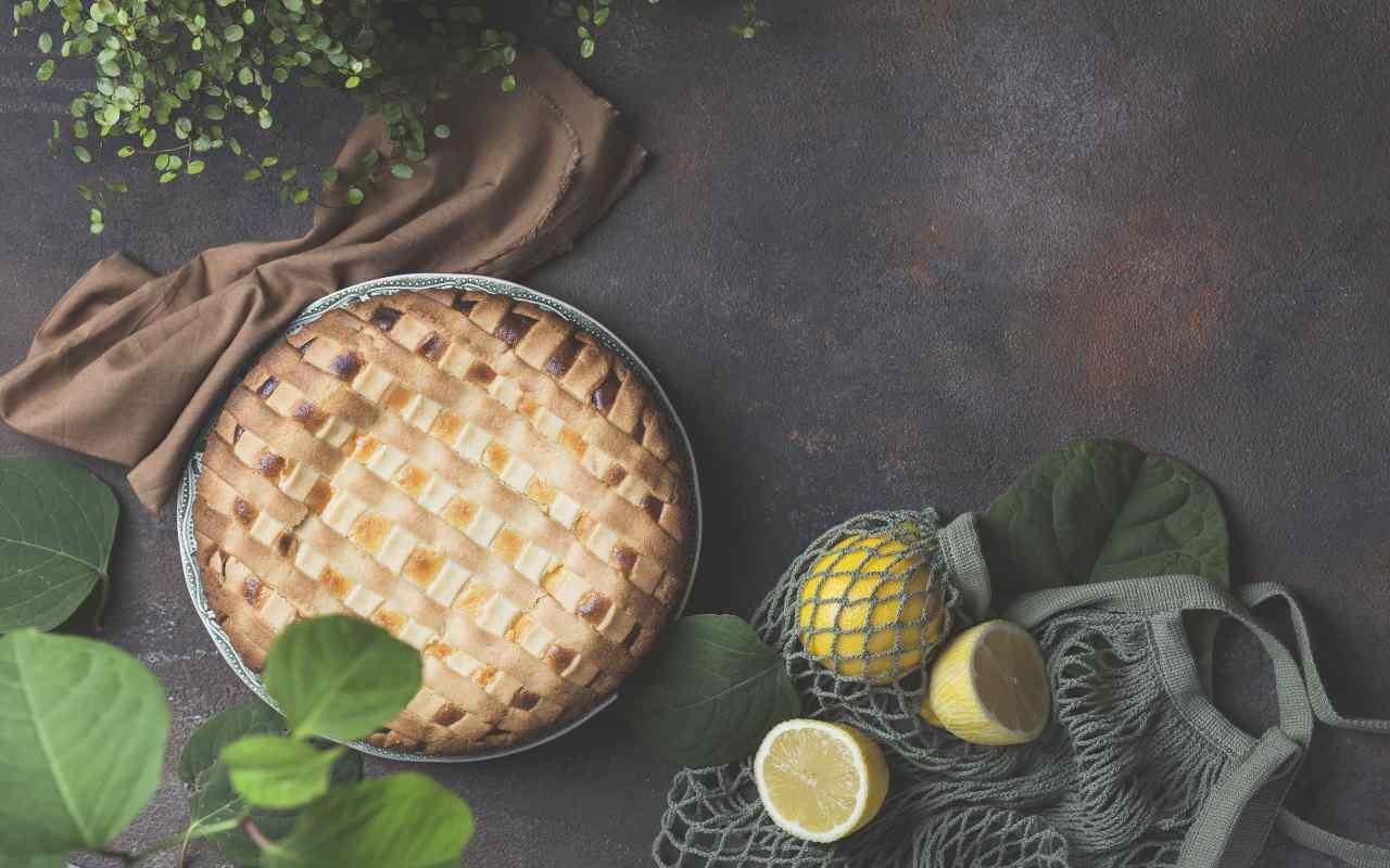 crostata ricotta limone frolla ricetta FOTO ricettasprint