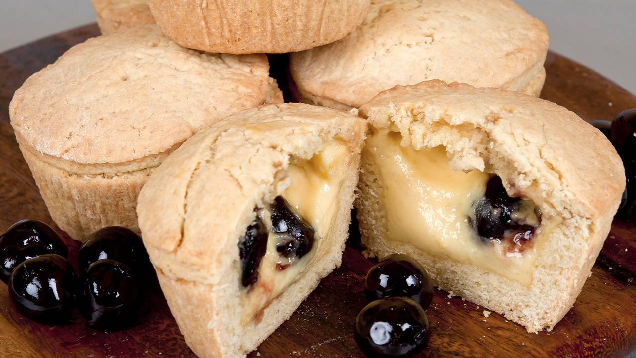 Muffin con crema pasticciera