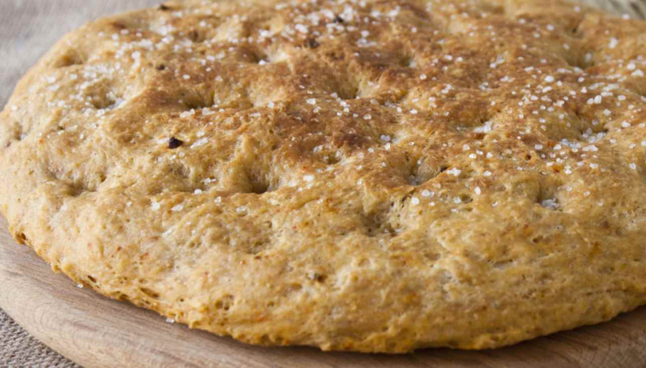 Focaccia con farine naturali