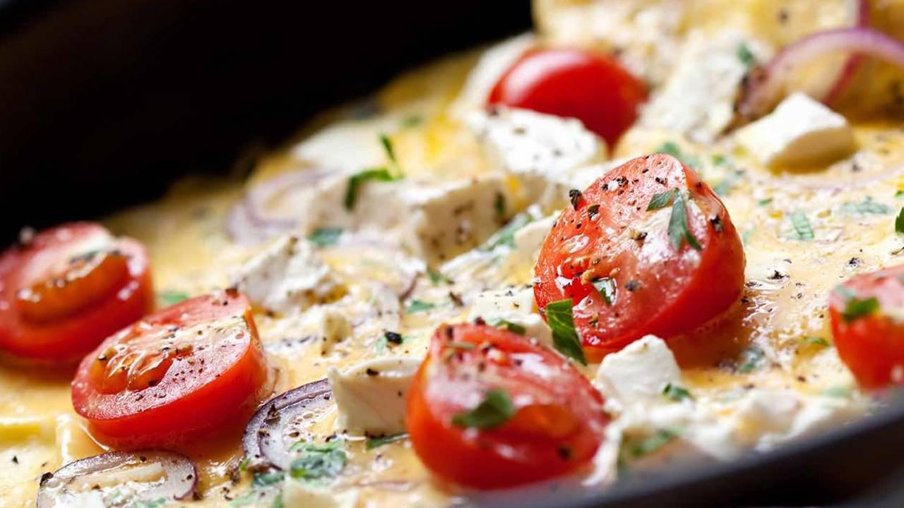 Torta di uova e pomodori