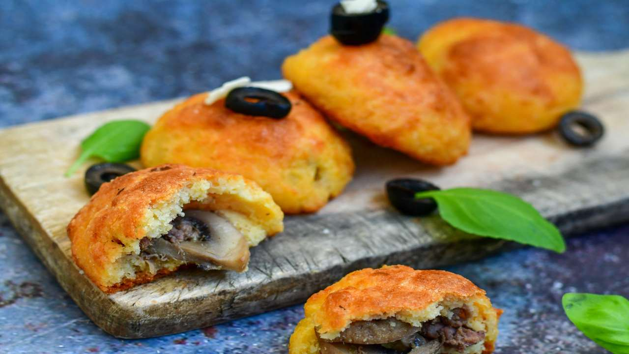 Frittelle con funghi