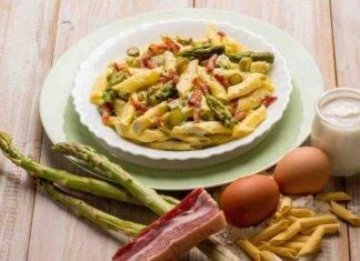 Garganelli con pancetta asparagi e crema al formaggio