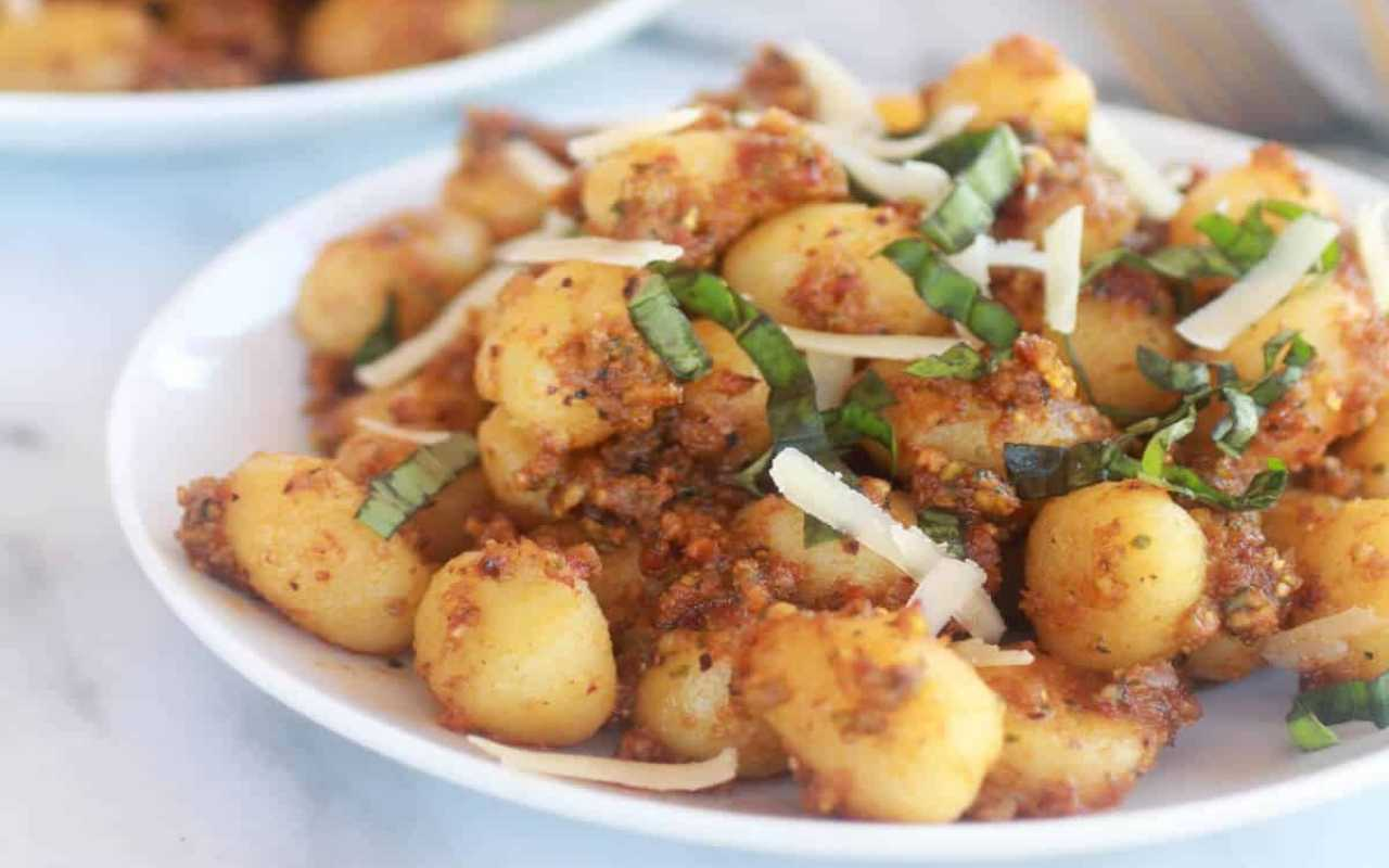 gnocchi ceci pesto pistacchio ricetta FOTO ricettasprint