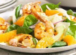 insalata arancia gamberi ricetta FOTO ricettasprint