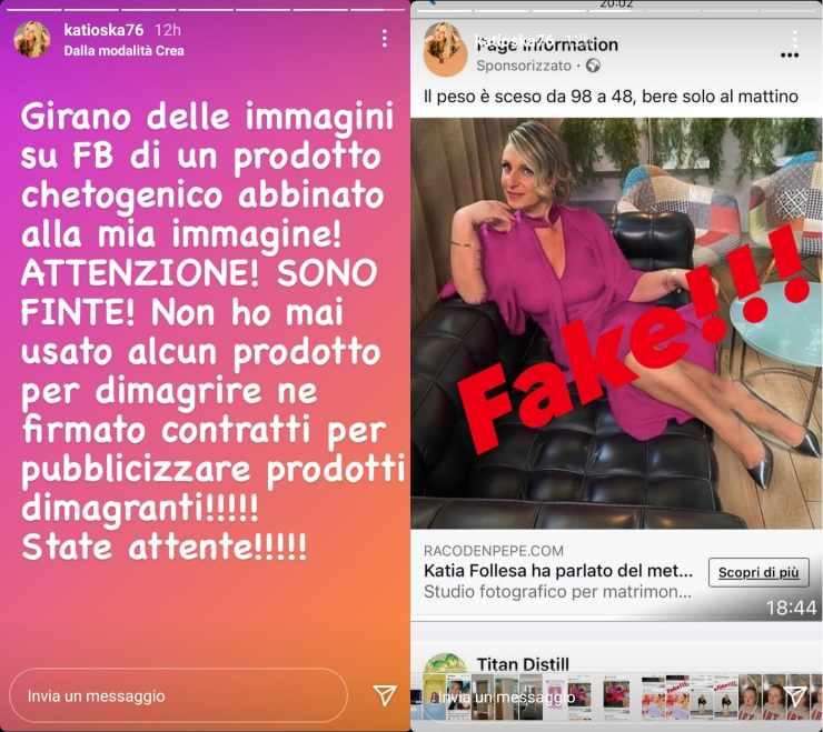 Katia Follesa ancora bufera sui social - RicettaSprint