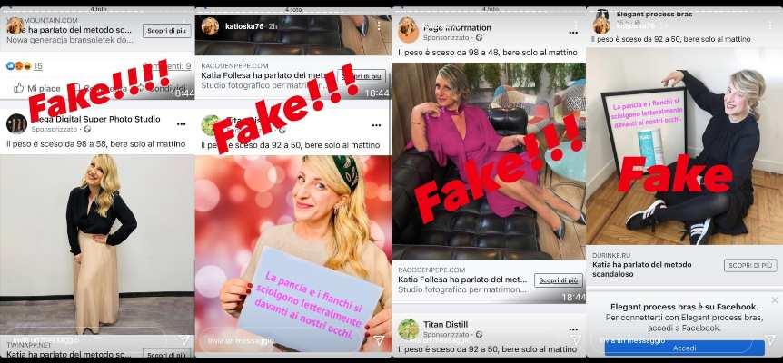 Katia Follesa vittima di false pubblicità - RicettaSprint