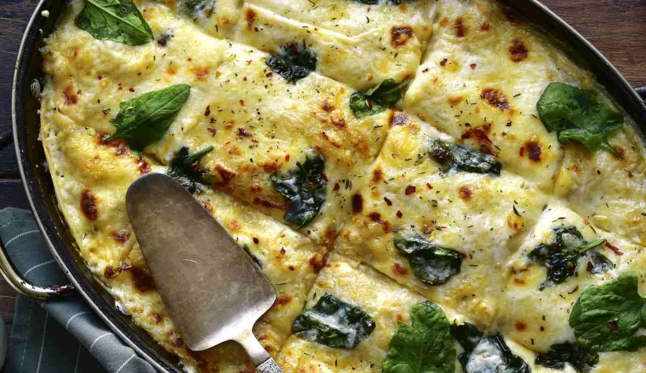 Lasagna filante con carne e spinaci ricettasprint