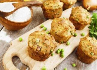Muffin con piselli