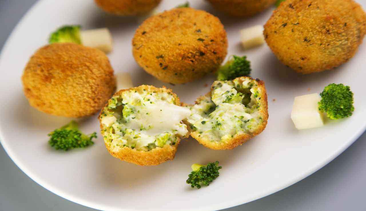 Palline di broccoli patate e tofu