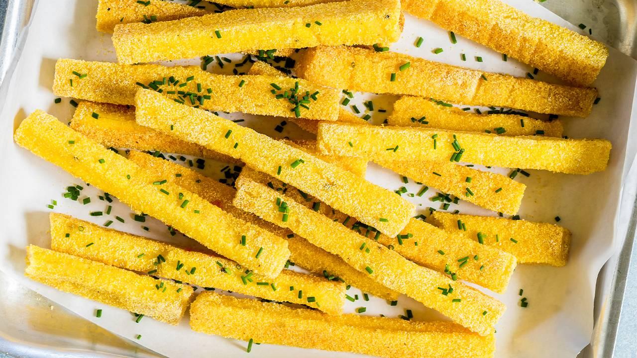 bastoncini al forno di polenta