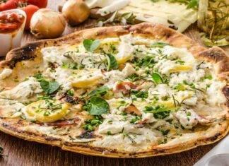 Pizza con burrata