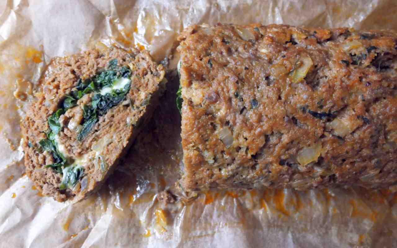 polpettone carne bietole ricetta FOTO ricettasprint
