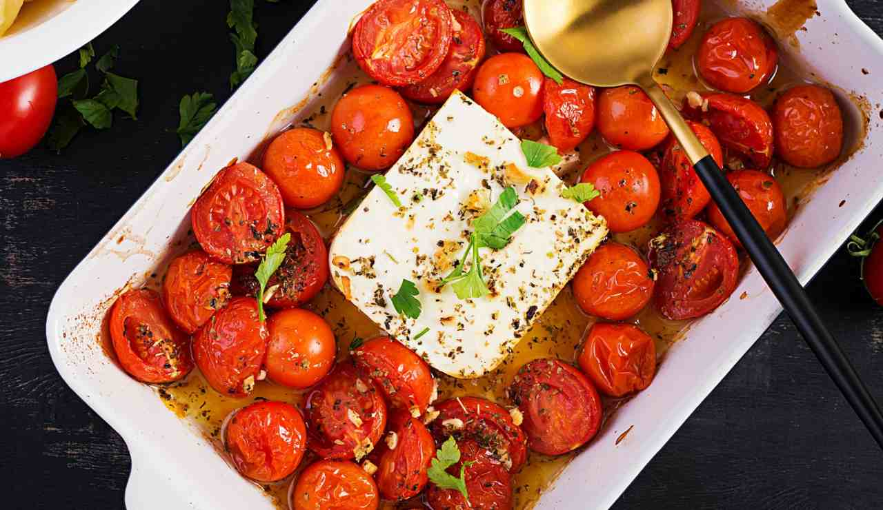 Ricotta infornata con pomodorini ricettasprint