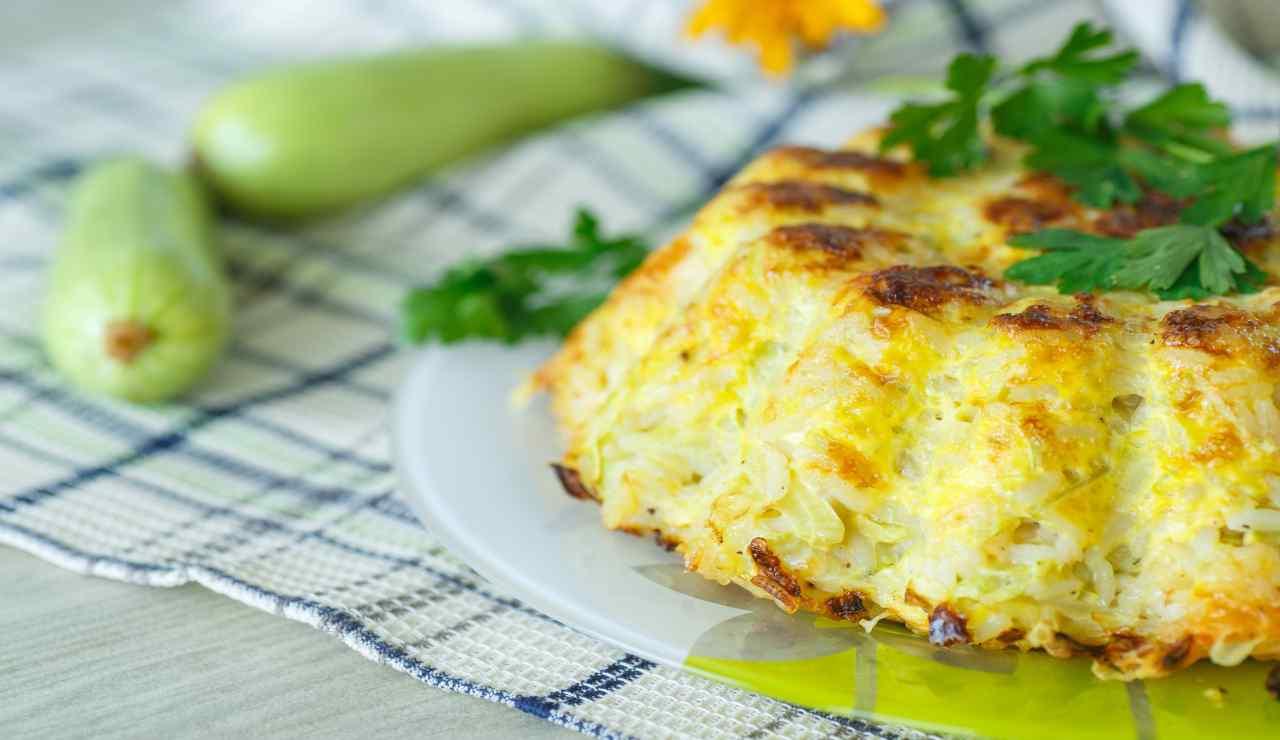 Rustico vegetariano zucchine e patate