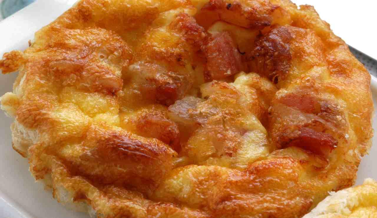 Sformatini formaggio e speck