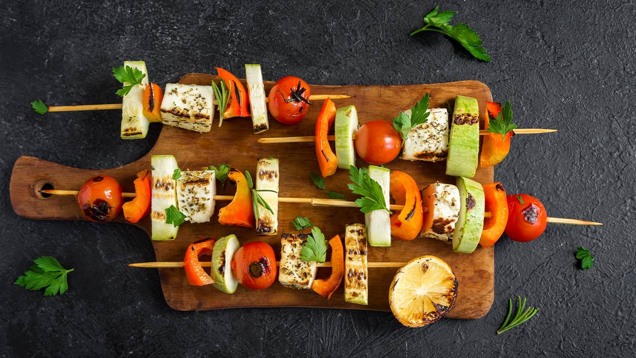 Tofu con verdure alla piastra