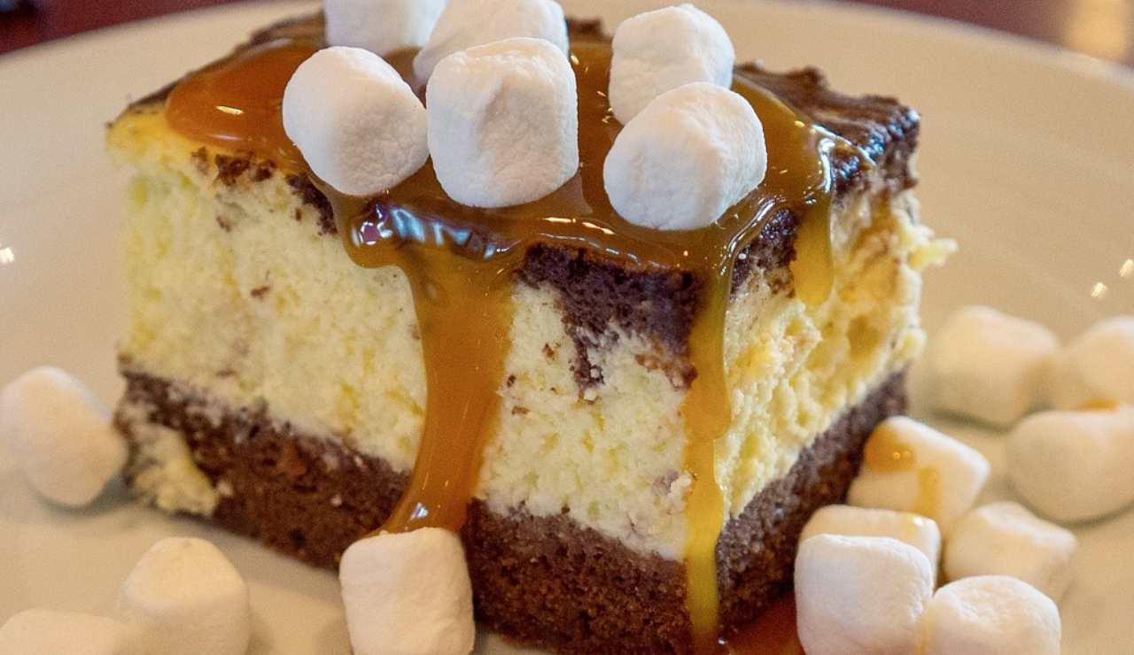 Torta fredda al twix e vaniglia ricettasprint
